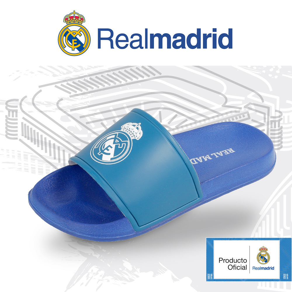 pasar por alto puntada Alinear  Chanclas de playa del Real Madrid niños * Regalos de equipos de futbol  futbollife
